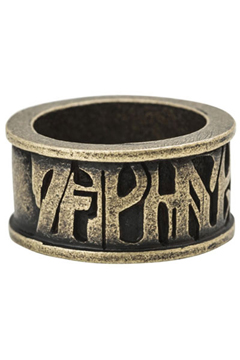 METAL RING -VISIONARY- ANTIQUE.GOLD