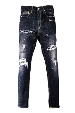 Zephyren(ゼファレン) CLASHED SKINNY BLACK.DENIM