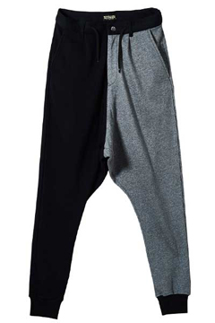 SAROUEL SWEAT PANTS BLACK / GRAY