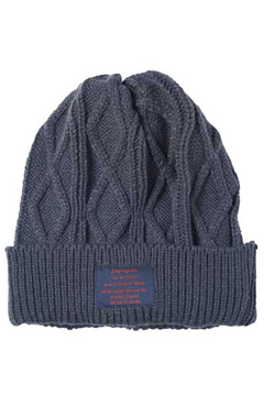 CABLE KNIT BEANIE -You Are Here- CHACOAL