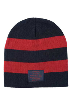 BORDER BEANIE -Your Are Here- BLACK/RED