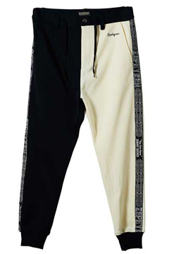 TAPE JERSEY PANTS BLACK / WHITE