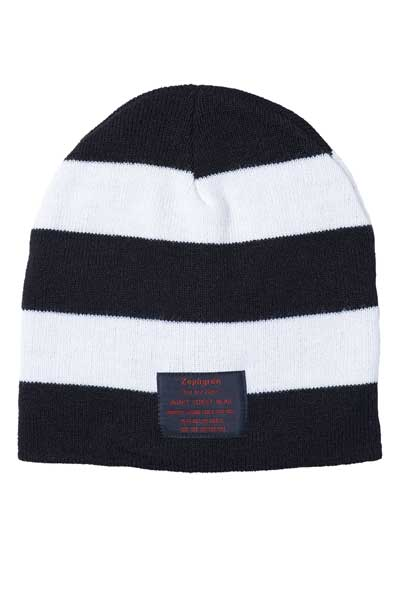 BORDER BEANIE -Your Are Here- BLACK/WHITE