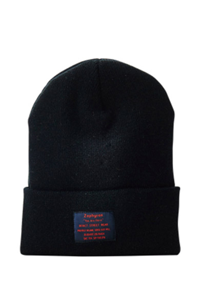 【予約商品】Zephyren(ゼファレン) LONG BEANIE -You Are Here- BLACK