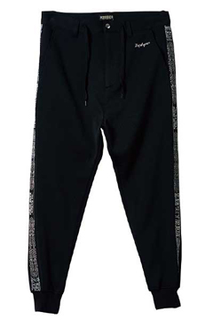 TAPE JERSEY PANTS BLACK