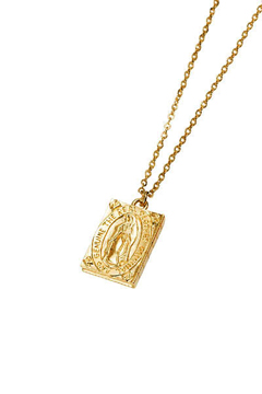 METAL NECKLACE - Guadalupe - GOLD