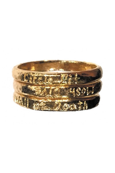 TRINITY METAL RING GOLD