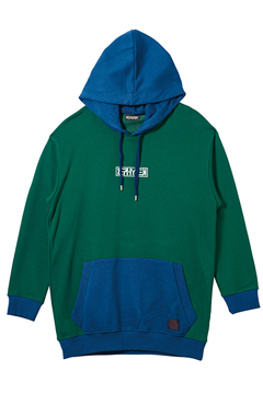 MIX BIG PARKA GREEN/NAVY