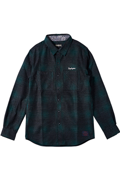 【予約商品】Zephyren(ゼファレン) CHECK SHIRT L/S -Resolve- GREEN