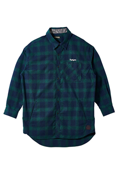 BIG SHIRT L/S -Resolve- GREEN
