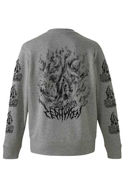 【予約商品】Zephyren(ゼファレン) SWEAT -PRAY / PRAYING HANDS- GRAY / PRAYING HANDS