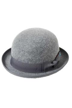 FELT BOWLER HAT GRAY