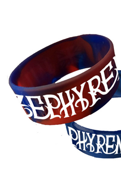 RUBBER BRACELET - ENGRAVE - NAVY / RED