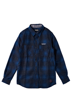 CHECK SHIRT L/S -Resolve- NAVY