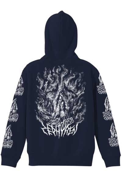 ZIP PARKA -PRAYING HANDS- NAVY