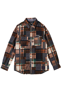 MIX CHECK SHIRT L/S -Resolve- ORANGE