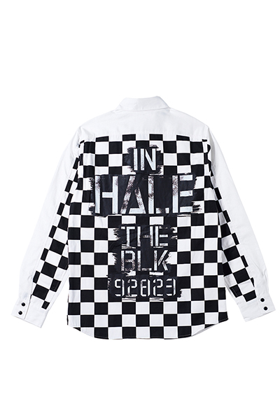 EMBLEM SHIRT L/S WHITE / In hale the black
