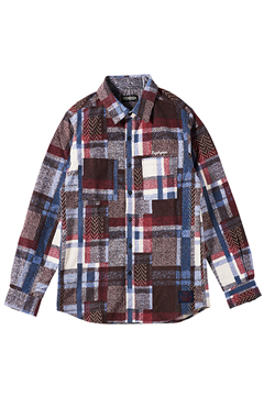 MIX CHECK SHIRT L/S -Resolve- WHITE