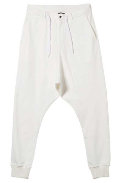 SAROUEL SWEAT PANTS WHITE