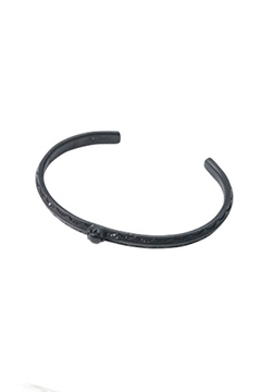 METAL BANGLE -HOLLY- BLACK