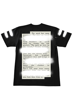 【予約商品】Zephyren S/S TEE -PLEDGE- BLACK