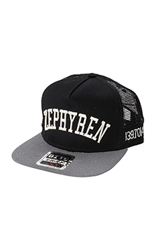 Zephyren TWILL MESH CAP -LATITUDE LONGITUDE- BLACKxGRAY