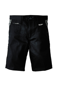 【予約商品】WORK SHORTS BLACKxPAISLEY