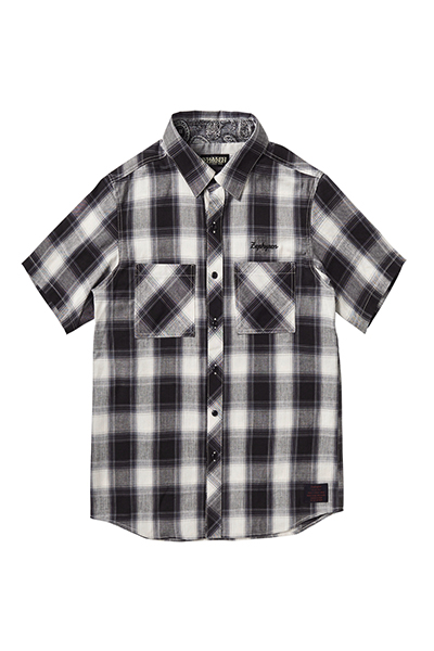 CHECK SHIRT S/S -Resolve- WHITE
