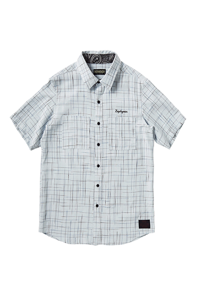 【予約商品】Zephyren SPASHED SHIRT S/S -Resolve- WHITE