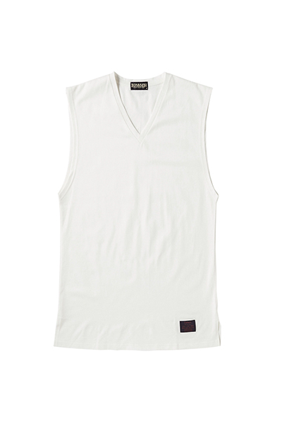 VNECK LONG N/S WHITE