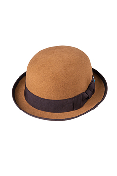 FELT BOWLER HAT BEIGE