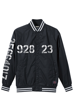 【予約商品】Zephyren(ゼファレン) NYLON STUDIUM JACKET - oldschool - BLACK