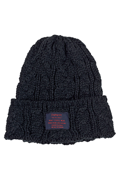 CABLE KNIT Beanie -You Are Here BLACK