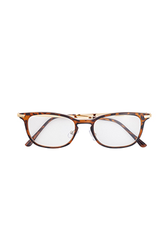SUNGLASS - INTELLIGENCE - BROWN / CLEAR