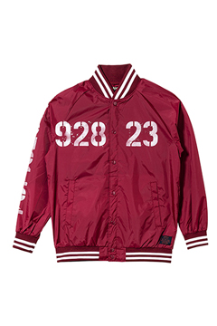 【予約商品】Zephyren(ゼファレン) NYLON STUDIUM JACKET - oldschool - BURGUNDY