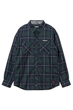 CHECK SHIRT L/S  GREEN