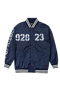 【予約商品】Zephyren(ゼファレン) NYLON STUDIUM JACKET - oldschool - NAVY