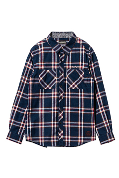 CHECK SHIRT L/S  NAVY