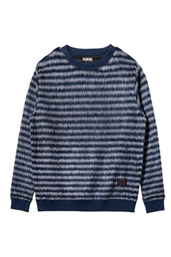 BIG BORDER KNIT NAVY