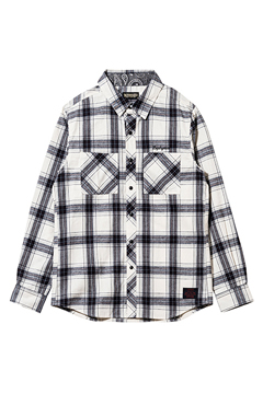 CHECK SHIRT L/S  WHITE