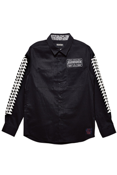 EMBLEM SHIRT L/S BLACK / Cut the world