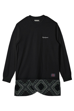 SWITCHING TEE L/S BLACK