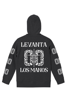 ZIP PARKA -LEVANTA LOS MANOS- BLACK