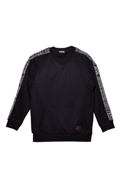 TAPE SWEAT BLACK