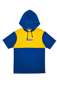 【予約商品】MIX BIG HOODY S/S BLUE / MUSTARD