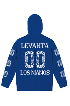 ZIP PARKA -LEVANTA LOS MANOS- BLUE