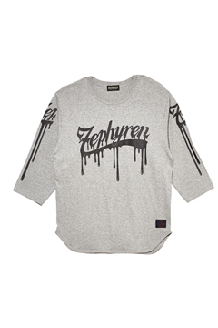 7/S TEE - BEYOND PAINTED - GRAY