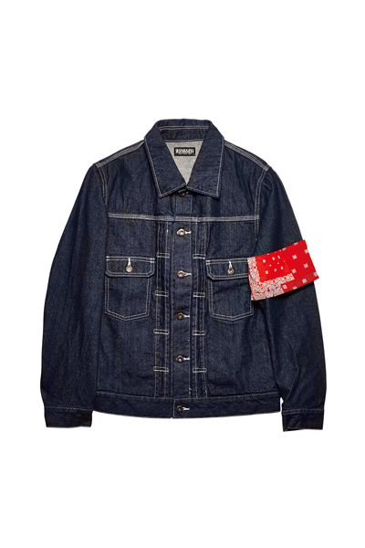 【予約商品】DENIM JACKET ONE WASH / BANDANNA