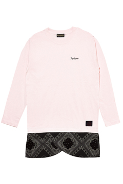 SWITCHING TEE L/S PINK