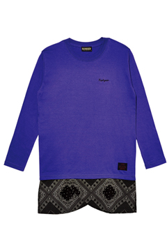 SWITCHING TEE L/S PURPLE